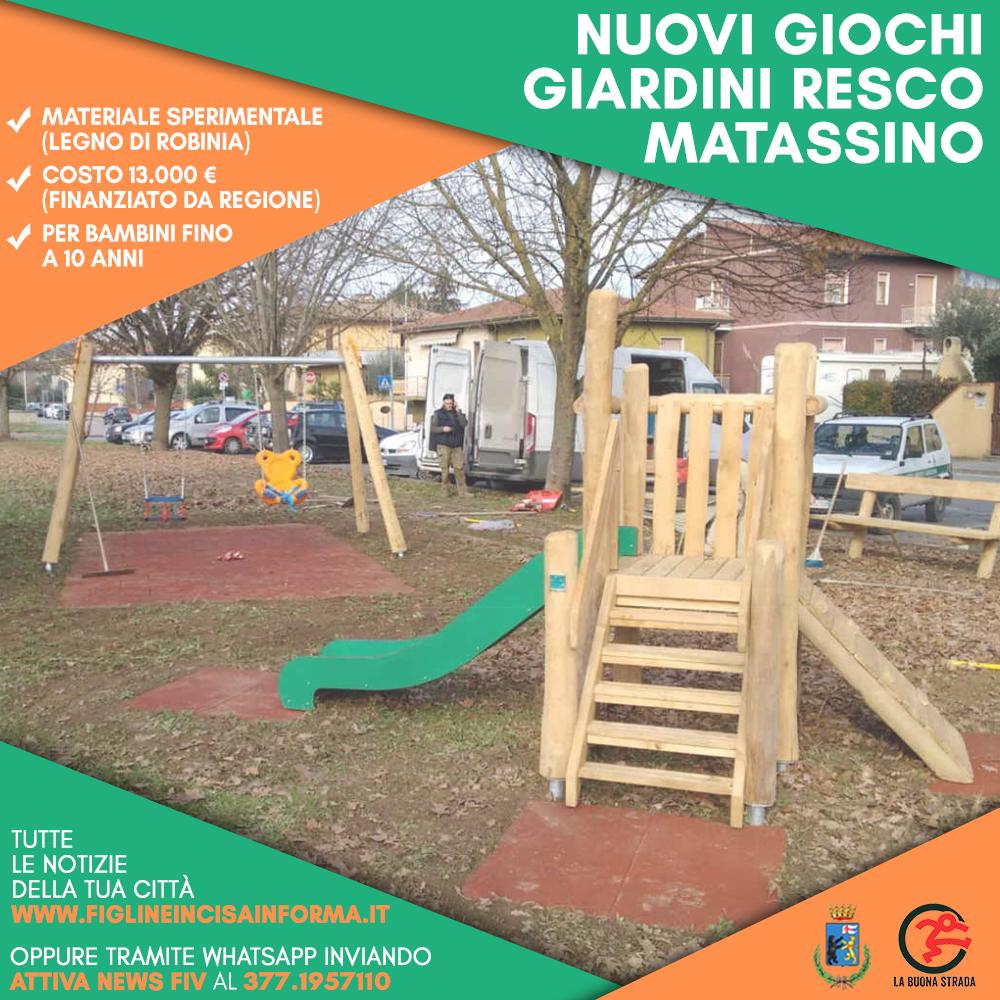 Al Matassino un\'area con giochi di legno sperimentale - Comune di ...