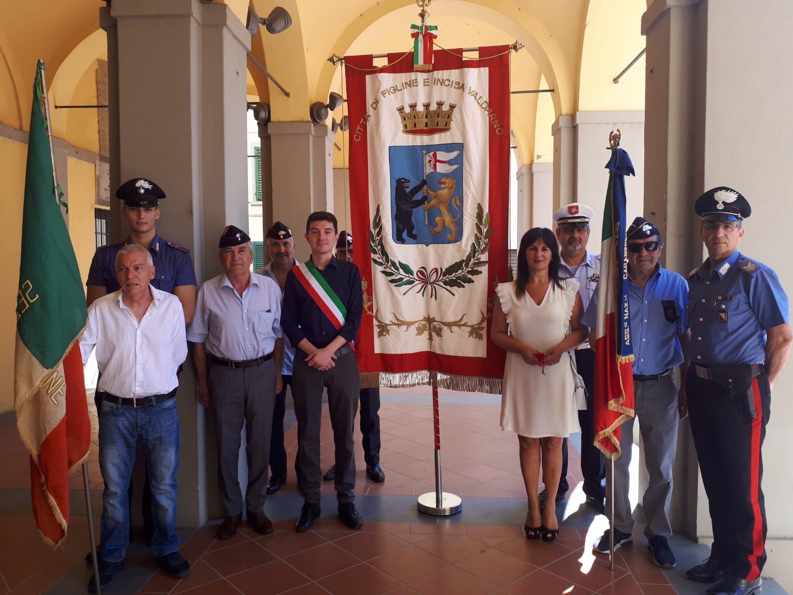 Anniversario Ufficio : Anche incisa ha ricordato il ° anniversario della liberazione